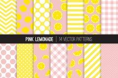 De roze Tegel van het Limonade Naadloze Vectorpatroon Royalty-vrije Stock Afbeeldingen