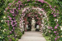 De roze tuin Beutig in baden-Baden stock foto's