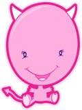 De roze Vector van de Duivel Stock Afbeelding