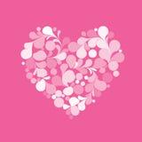 De roze vector van het liefdehart Stock Foto's