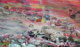 De roze wasachtige vage zilveren achtergrond van de pastelkleurverf op gebrande textuur Stock Foto