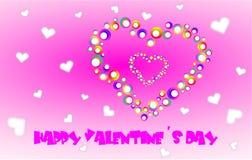 De roze wensen van de Valentijnskaart Stock Afbeeldingen