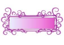 De Roze Wervelingen van het Embleem van de Web-pagina royalty-vrije illustratie