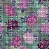 De rozen borduurden kruis Royalty-vrije Stock Afbeeldingen