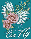 De rozen kunnen vliegen Royalty-vrije Stock Afbeeldingen