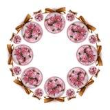 De rozen van de Dag van de valentijnskaart Stock Foto's