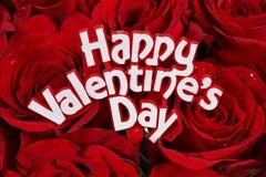 De Rozen van de Dag van valentijnskaarten Royalty-vrije Stock Foto