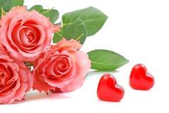 De rozen van de valentijnskaart Royalty-vrije Stock Afbeelding