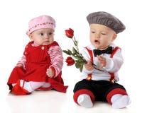 De Rozen van de valentijnskaart voor me? Royalty-vrije Stock Fotografie