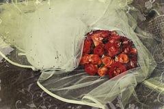 De rozen van Grunge royalty-vrije stock afbeeldingen