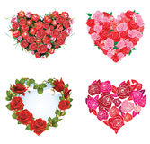 De Rozen van het hart Royalty-vrije Stock Afbeeldingen