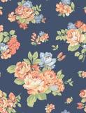 De rozen van de de kunstbloem van het stoffenpatroon stock foto