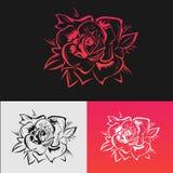 De rozen zijn rood Stock Fotografie