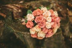 De rozenboeket van het de lentehuwelijk Royalty-vrije Stock Foto