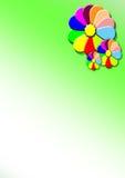 De rozettenillustratie van de bloem Stock Afbeelding