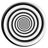 De résumé élément en spirale Tournant, graphique de vortex concentrique Photos stock