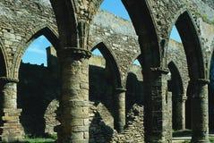 De Ruïne van de abdij Royalty-vrije Stock Foto's