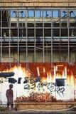 De ruïne van de fabriek Royalty-vrije Stock Foto