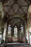 De Ruïne van de kerk Stock Afbeeldingen