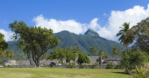 De ruïne van de suikerrietaanplanting in St Kitts Royalty-vrije Stock Fotografie