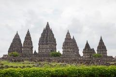 De Ruïne van de Tempel van Prambanan, Yogyakarta, Java, Indonesië Stock Afbeelding