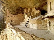 De ruïne van het balkonhuis in Mesa Verde Royalty-vrije Stock Fotografie