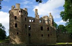 De ruïne van het Huntlykasteel in Huntly Aberdeenshire Schotland royalty-vrije stock foto's