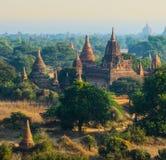 De ruïne van oude tempel in Bagan City Royalty-vrije Stock Afbeeldingen