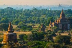 De ruïne van oude tempel in Bagan City, Myanmar Royalty-vrije Stock Fotografie