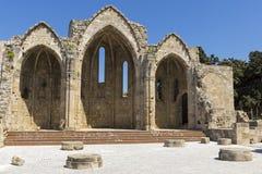 De ruïne van Virgin van Burgh Stock Foto