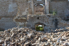 De ruïnebouw Stock Foto