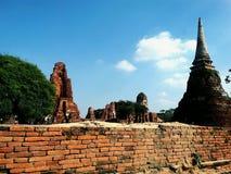 De ruïnepagoden in de oude stad Ayudhaya Royalty-vrije Stock Foto