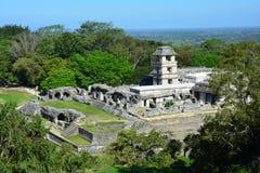 De Ruïnes Chiapas Mexico van Weergevenpalenque stock foto's