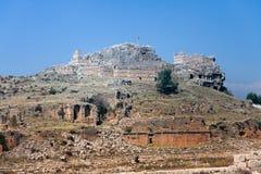 De ruïnes en de graven van Tlos Stock Foto's