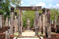 De ruïnes Polonnaruwa Stock Foto's
