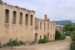 De ruïnes in Shusha-stad Royalty-vrije Stock Foto's