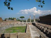 De ruïnes van Adriana van de villa Stock Foto