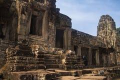 De ruïnes van Angkorwat in de wildernis Stock Afbeeldingen
