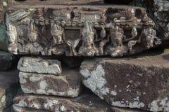 De ruïnes van Angkorwat in de wildernis Stock Foto