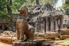 De ruïnes van Angkorwat in de wildernis Royalty-vrije Stock Afbeelding