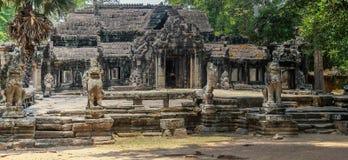 De ruïnes van Angkorwat in de wildernis Stock Afbeelding