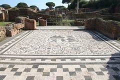 De ruïnes van antica van Ostia Stock Afbeelding