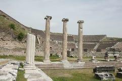 De ruïnes van Asklepion van Pergamum (Pergamon), Bergama, Turkije Stock Foto