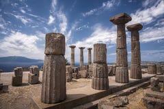 De ruïnes van Assos royalty-vrije stock fotografie