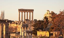 De ruïnes van Baalbek stock afbeelding