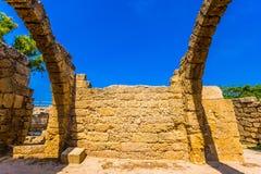 De ruïnes van de behandelde arcades royalty-vrije stock foto's