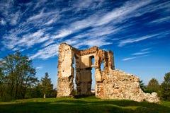 De Ruïnes van Bodzentyn royalty-vrije stock foto