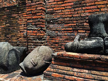 De ruïnes van Boedha Stock Afbeelding