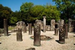 De ruïnes van Butrint, Albanië Stock Afbeeldingen