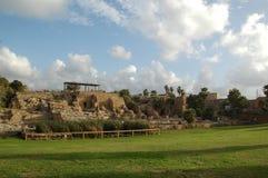 De ruïnes van Caesarea Maritima, Israël Royalty-vrije Stock Foto's
